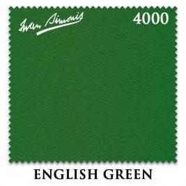 Сукно снукерное Iwan Simonis 4000 snooker, 193 см, English Green (комплект на стол 12ф)