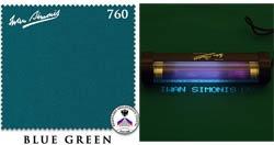 Сукно Iwan Simonis 760, 195 см Blue Green (Бельгия)