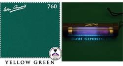 Сукно Iwan Simonis 760, 195 см Yellow Green (Бельгия)